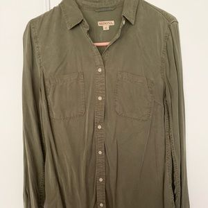 Olive Green Flannel / Shirt